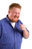 Het Lachen van de mens Stock Fotografie