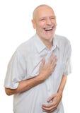 Het lachen van de mens stock foto's