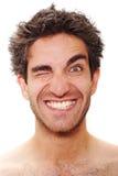 Het lachen van de mens Royalty-vrije Stock Foto's