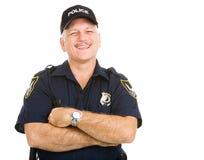 Het Lachen van de politieman Stock Foto