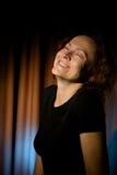Het lachen van de vrouw royalty-vrije stock foto's