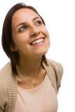 Het lachen van de vrouw Stock Foto's