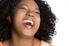 Het Lachen van de vrouw Royalty-vrije Stock Foto