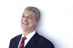 Het lachen van de zakenman royalty-vrije stock foto's