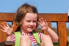 Het lachen van het kind Stock Foto