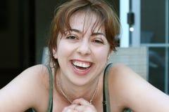 Het lachen van het meisje royalty-vrije stock afbeelding
