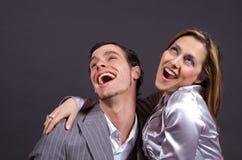 Het Lachen van het paar Stock Foto