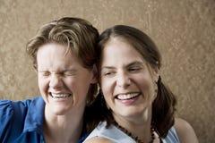 Het Lachen van vrouwen royalty-vrije stock afbeeldingen