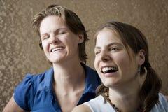 Het Lachen van vrouwen stock foto