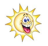 Het lachen zon Stock Foto
