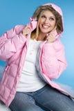 Het lachende Meisje van de Winter Stock Afbeeldingen
