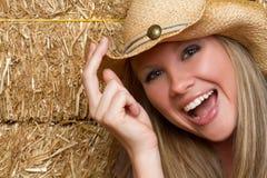 Het lachende Meisje van het Land royalty-vrije stock foto