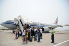 Het laden van het vliegtuig Royalty-vrije Stock Afbeelding