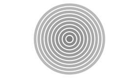 het ladingsscherm cirkel, zwart en donkergrijs op witte achtergrond - 30fps-lijn - videotextuur, naadloos geanimeerd element vector illustratie