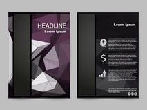 Het lage ontwerp van de poligonalbrochure stock illustratie