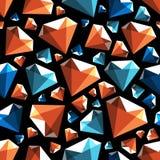 Het lage poly naadloze vectorpatroon van de gemdiamant Vector Illustratie