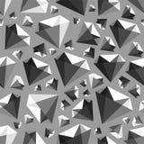 Het lage poly naadloze vectorpatroon van de gemdiamant royalty-vrije illustratie