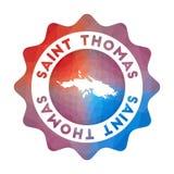 Het lage polyembleem van heilige Thomas vector illustratie