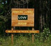 Het lage teken van het Niveau van de spanning Stock Afbeelding