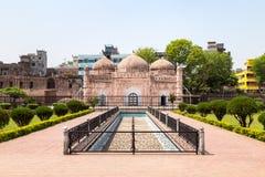 Het Lalbaghfort is een onvolledige Mughal-vesting in Dhaka stock afbeelding