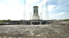 Het lanceringsgebied voor Soyuz op het Ruimtecentrum van Guyana stock footage