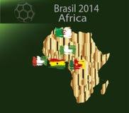 Het land Afrika van Brazilië 2014 Stock Afbeelding