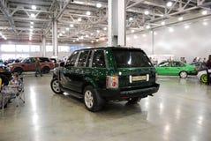 Het Land Rover Range Rover III SUV bij een tentoonstelling in `-Krokus Expo 2012 ` moskou Stock Fotografie