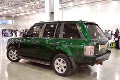 Het Land Rover Range Rover III SUV bij een tentoonstelling in `-Krokus Expo 2012 ` moskou Stock Foto's