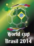 Het land van Brazilië 2014 van de voetbalwereldbeker Stock Afbeelding