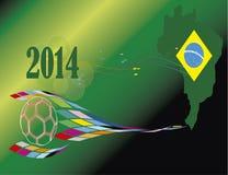 Het land van Brazilië 2014 van de voetbalwereldbeker Stock Foto's