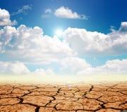 Het land van de droogte Stock Fotografie