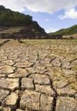 Het land van de droogte Stock Foto's