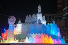 Het land van de Prinses van het Ijs ~ van Witte Vleugels, het Festival van de Sneeuw Sapporo Royalty-vrije Stock Foto