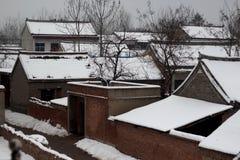 Het land van ijs en sneeuw Stock Fotografie