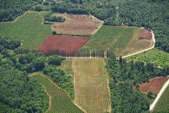 Het land van Toscanië Stock Fotografie