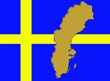 Het land van Zweden Stock Fotografie