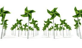 Het Landbouwbedrijf van de Energie van de Wind van de windmolen stock illustratie