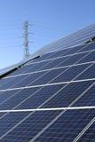 Het Landbouwbedrijf van de Energie van de zon royalty-vrije stock afbeelding