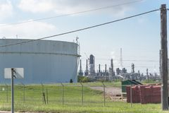 Het landbouwbedrijf van de olietank in Pasadena, Texas, de V.S. Royalty-vrije Stock Afbeelding