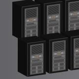 Het Landbouwbedrijf van de server Stock Afbeelding