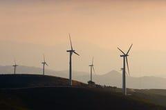 Het Landbouwbedrijf van de Turbine van de wind Royalty-vrije Stock Foto's