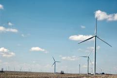 Het Landbouwbedrijf van de Turbine van de wind Royalty-vrije Stock Afbeelding