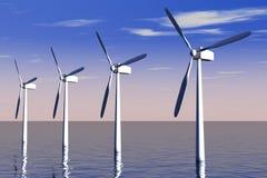 Het Landbouwbedrijf van de wind Stock Foto's