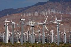 Het landbouwbedrijf van de windmolen Stock Foto