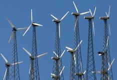 Het landbouwbedrijf van de windmolen Royalty-vrije Stock Afbeeldingen