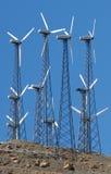 Het landbouwbedrijf van de windmolen Royalty-vrije Stock Afbeelding