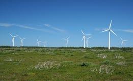 Het landbouwbedrijf van de windmolen bij de Kaap van het Noorden Stock Fotografie