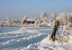 Het landbouwbedrijf van de winter Royalty-vrije Stock Foto's