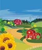 Het landbouwbedrijf van de zomer Royalty-vrije Stock Fotografie