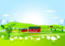 Het landbouwbedrijf van het gevogelte stock illustratie